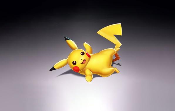 Картинка Art, Smile, Pokemon, Illustration, Minimalism, Pikachu, Figure, Nick Savino