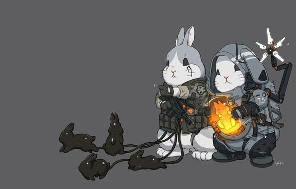 Картинка Art, Death Stranding, Bunnies, Comic Art, Ren Wei Pan, Comic art, Baby bunny!