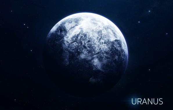 Картинка Звезды, Планета, Космос, Ягоды, Арт, Stars, Space, Art, Planet, Уран, Система, Uranus, Berries, System, Солнечная ...