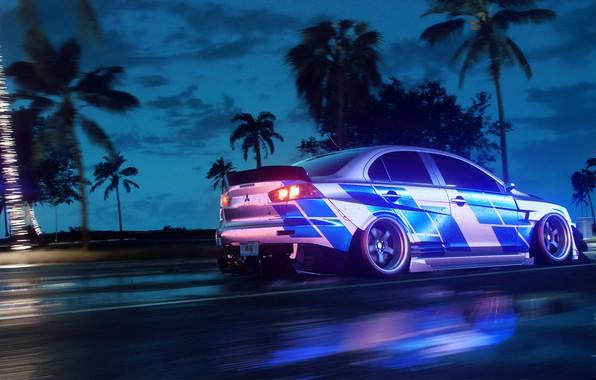 Картинка Mitsubishi, Lancer, NFS, Electronic Arts, Need For Speed, 2019, Need For Speed: Heat