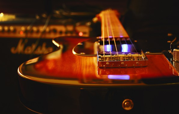 Картинка гитара, инструмент, электрогитара, студия