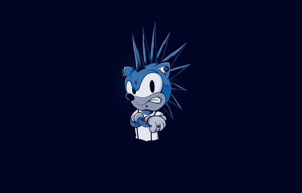 Картинка Минимализм, Рисунок, Игра, Соник, Арт, Панк, Sonic, Персонаж