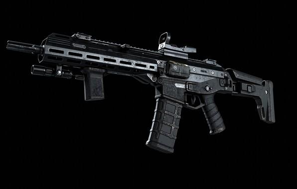 Картинка рендеринг, оружие, тюнинг, Автомат, Gun, weapon, render, рендер, 3d art, Штурмовая винтовка, ACR, штурмовая винтовка, …