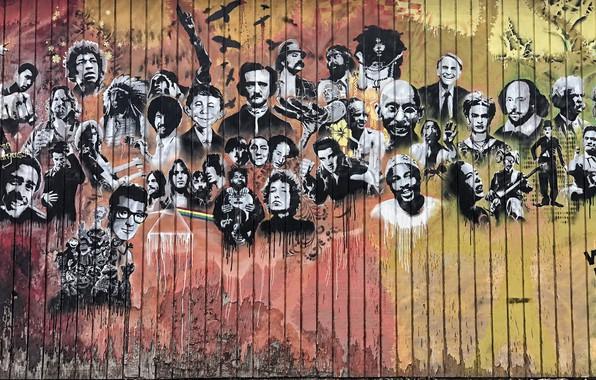Картинка фон, стена, граффити