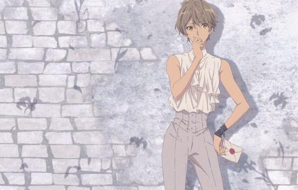 Картинка письмо, брюки, кирпичная стена, violet evergarden, by Akiko Takase, Iris Cannary