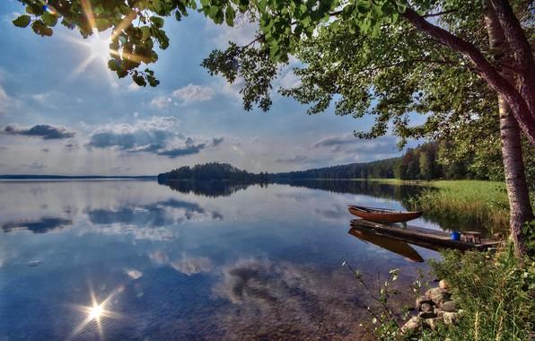 Картинка лето, озеро, Финляндия, Karijärvi