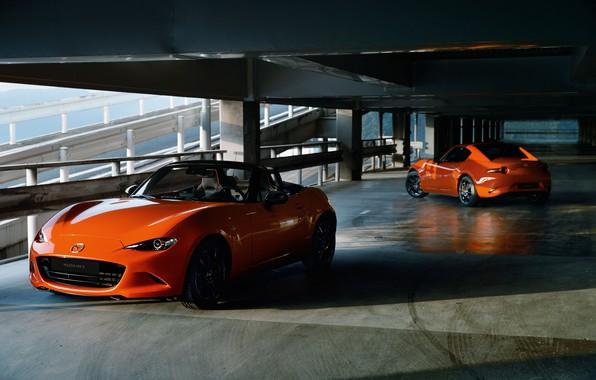 Картинка машина, Mazda, паркинг, MX-5, 30th Anniversary Edition, 2020, MX-5 RF