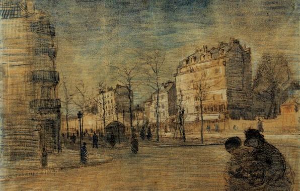 Картинка Drawings, Винсент ван Гог, The Boulevard de Clichy