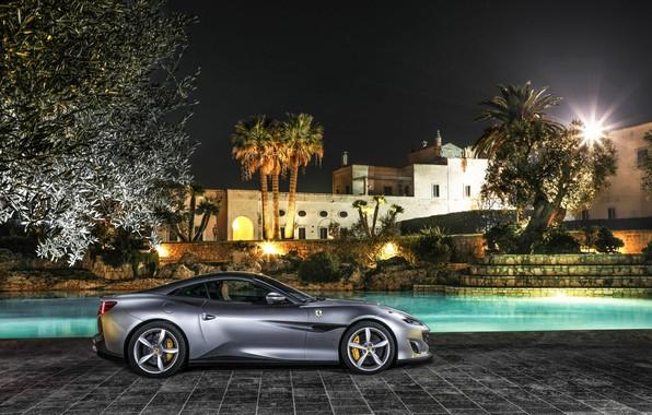 Фото обои Ferrari, особняк, Portofino