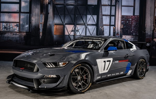 Картинка Muscle, Race, Ford Mustang, Gray, GT4, Vehicle