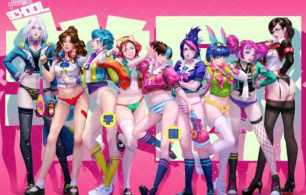 Картинка попа, попка, девушка, девушки, трусики, аниме, girl, трусы, ass, розовый фон, panties, girls, pink, anime, …