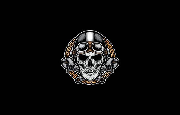 Картинка Минимализм, Рисунок, Ключ, Череп, Стиль, Фон, Fantasy, Арт, Art, Style, Skull, Фантастика, Fiction, Background, Ключи, …