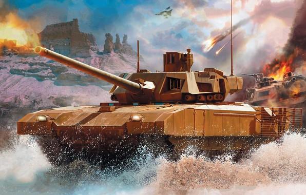 Картинка Армата, Т-14, с необитаемой башней, новейший российский основной танк