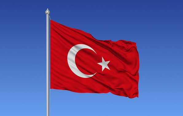 Картинка sky, flag, Turkish flag