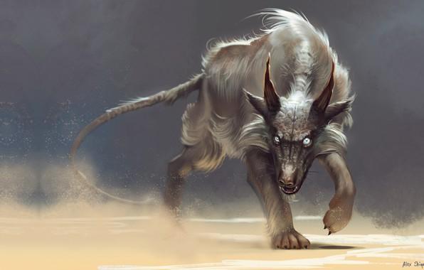 Картинка хищник, фэнтези, арт, Alex Shiga, Desert devil