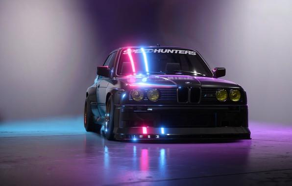 Картинка Авто, Игра, BMW, Машина, БМВ, NFS, BMW M3, Рендеринг, Concept Art, Передок, BMW E30, Payback, ...