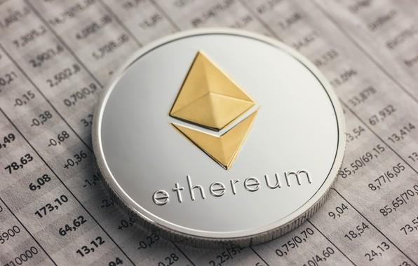 Картинка размытие, лого, таблица, монета, эфир, eth, ethereum