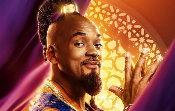 Картинка взгляд, Aladdin, Will Smith, Уилл Смит, Аладдин, Джинн