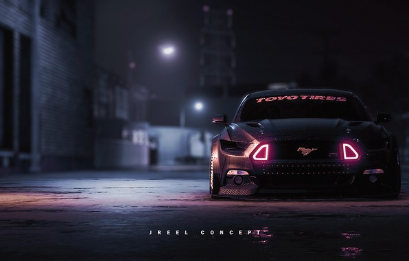 Картинка Mustang, Ford, Авто, Игра, Машина, NFS, Ford Mustang, Рендеринг, Concept Art, Game Art, Transport & …