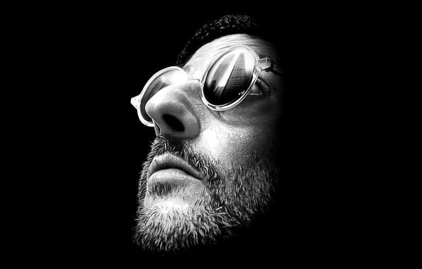 Картинка лицо, очки, Леон, боевик, персонаж, Leon, Люк Бессон