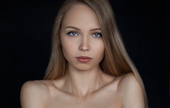 Картинка взгляд, лицо, портрет, Девушка, Евгений Сибиряев