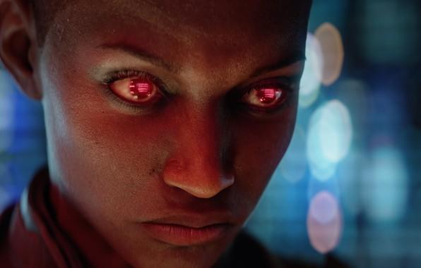 Картинка девушка, будущее, киберпанк, видеоигра, CD Projekt RED, Cyberpunk 2077, CD PR