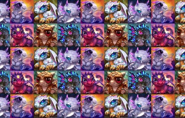Картинка малыш, фэнтези, арт, дракончик, детская, Rikku the Leaf, Baby dragons