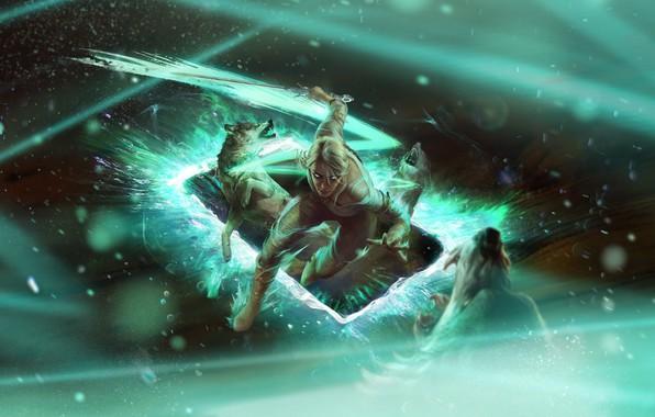Картинка Цири, Цирилла Фиона Элен Рианнон, Гвинт, Gwent: the witcher card game