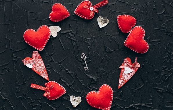Картинка любовь, сердце, red, love, key, romantic, hearts, valentine's day, gift
