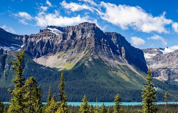 Картинка скала, озеро, фото, Canada, Lake, Banff, Parks