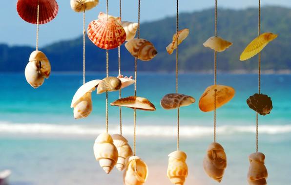 Картинка песок, море, волны, пляж, лето, берег, ракушки, summer, beach, sea, sand, marine, seashells