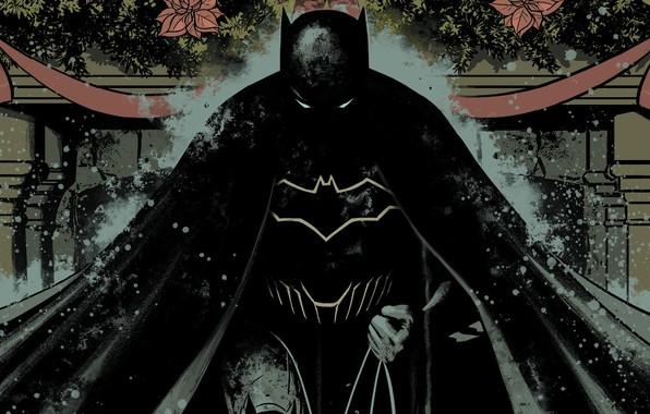 Картинка dark, fantasy, Batman, comics, artwork, mask, superhero, fantasy art, DC Comics, Bruce Wayne, hood, cape