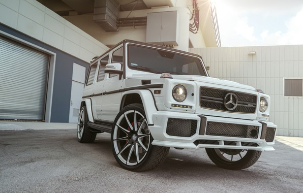 Картинка Mercedes, AMG, White, G63, W463, Brick