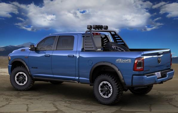 Картинка Dodge, Blue, Ram, Off road