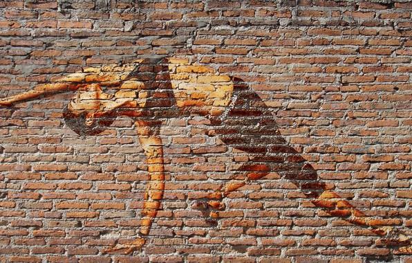 Картинка стена, граффити, фотошоп, картинка