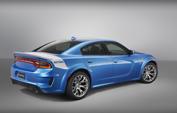 Картинка Dodge, вид сзади, Charger, Hellcat, SRT, Widebody, Daytona, 50th Anniversary Edition, 2019