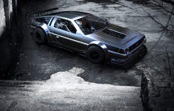 Картинка Авто, Машина, DeLorean DMC-12, DeLorean, Рендеринг, Concept Art, DMC 12, Transport & Vehicles, Rostislav Prokop, …