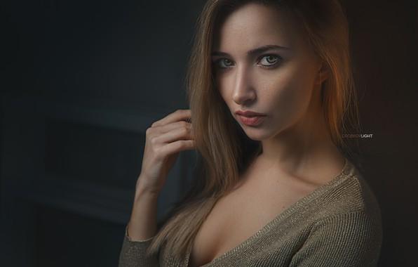 Картинка грудь, взгляд, портрет, Девушка, Alexander Drobkov-Light, Анна Паращук