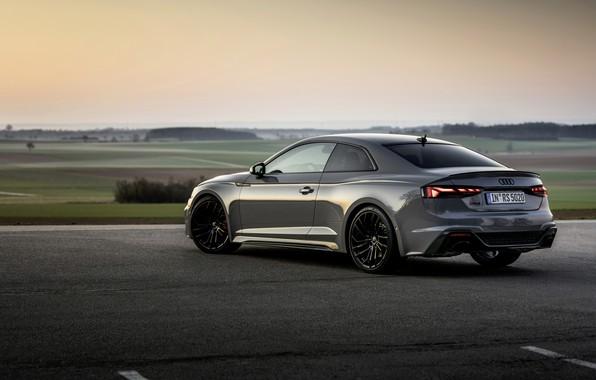 Картинка Audi, купе, серый цвет, RS 5, 2020, RS5 Coupe