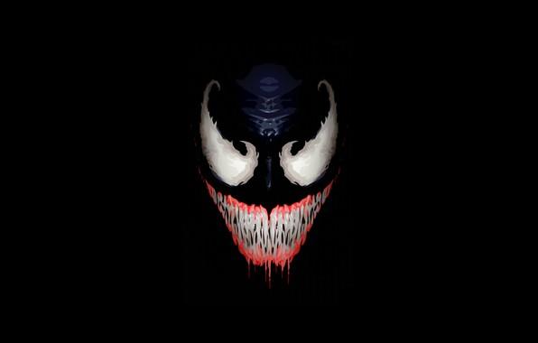 Картинка Улыбка, Лицо, Зубы, Клыки, Арт, Comics, Illustration, MARVEL, Venom, Characters, Comic Art, Ben Laverock, by …