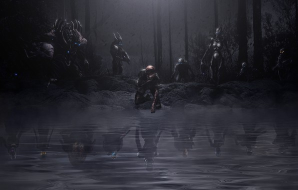Картинка сон, mass effect, Shepard, Garrus Vakarian, Ashley Williams, prothean, кошмар, edi, reaper, turian, asari, Tali'Zorah …
