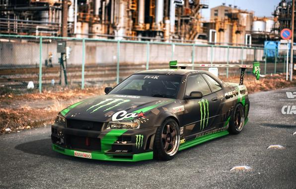 Картинка Авто, Машина, Nissan, GT-R, Skyline, Nissan Skyline, Рендеринг, Японец, Nissan Skyline GT-R, GT R, R ...