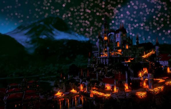 Картинка Ночь, Туссент, The Witcher 3: Blood and Wine