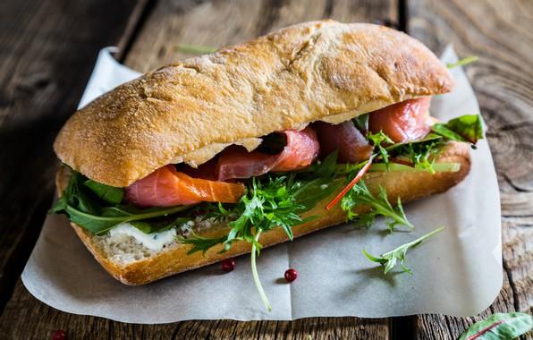 Картинка рыба, хлеб, бутерброд