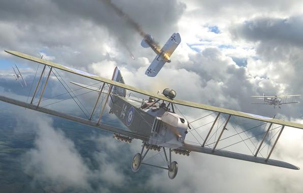 Картинка Биплан, Бомбардировщик, военный самолёт, Armstrong Whitworth F.K.8