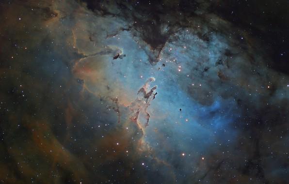 Картинка звезды, туманность, Орел, Eagle, Nebula, stars, М16