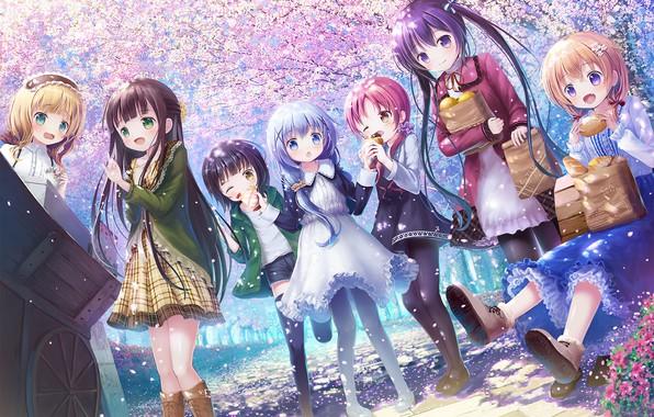 Картинка девочки, весна, аниме