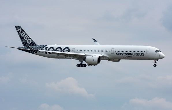 Картинка лайнер, Airbus, A350-1000