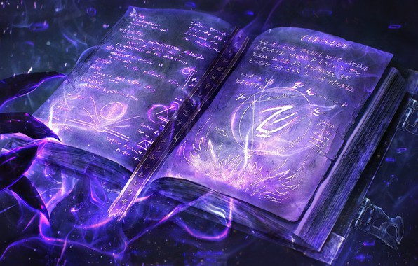 Обои магия, книга, руны, book, тёмная магия, dark magic