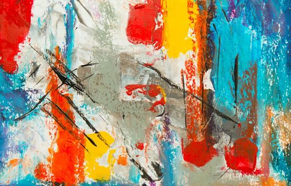 Картинка линии, краска, штрихи, пятна, холст, мазки